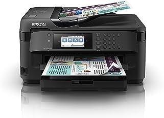 Epson C11CG36413 WorkForce WF-7710DWF 4-in-1 Business-Multifunktionsgerät Tintenstrahl (drucken, scannen, kopieren, faxen, WiFi, Ethernet, NFC, Full Duplex, Einzelpatronen, bis DIN A3+) schwarz