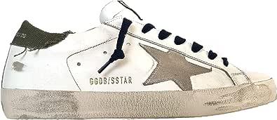 Golden Goose Sneakers Uomo Vintage Superstar G35MS590.Q82 Bianco-Verde