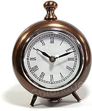 "Esplanade - 7"" Metal Vintage Clock   Classic Retro Clock, European Style Vintage Table Clock Desk Clock   Clocks for Home   Time Piece   No Alarm Feature."