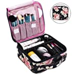 Makeup Bag Travel Cosmetic Bag for Women Nylon Cute Makeup Case Large Professional Cosmetic Train Case Organizer with...