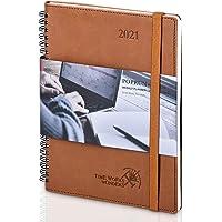 Agenda 2021 Settimanale ca. A5 - POPRUN Diario 2021 Copertina Morbida con Calendario Annuale, Pagine di Note e Rubrica…
