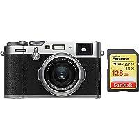 Fujifilm X100F 24.3 MP Mirrorless Camera with Fixed f23 mm F2 Lens (APS-C X-Trans CMOS III Sensor, Phase Detection AF) + SanDisk 128GB Extreme SDXC UHS-I Card - C10, U3, V30, 4K UHD, SD Card
