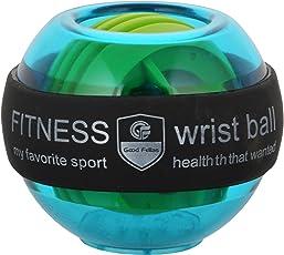 7Days Aapka Bazar Plastic Gyroscopic Wrist and Forearm Exerciser Fitness Power Wrist Ball with LED, 7 cm