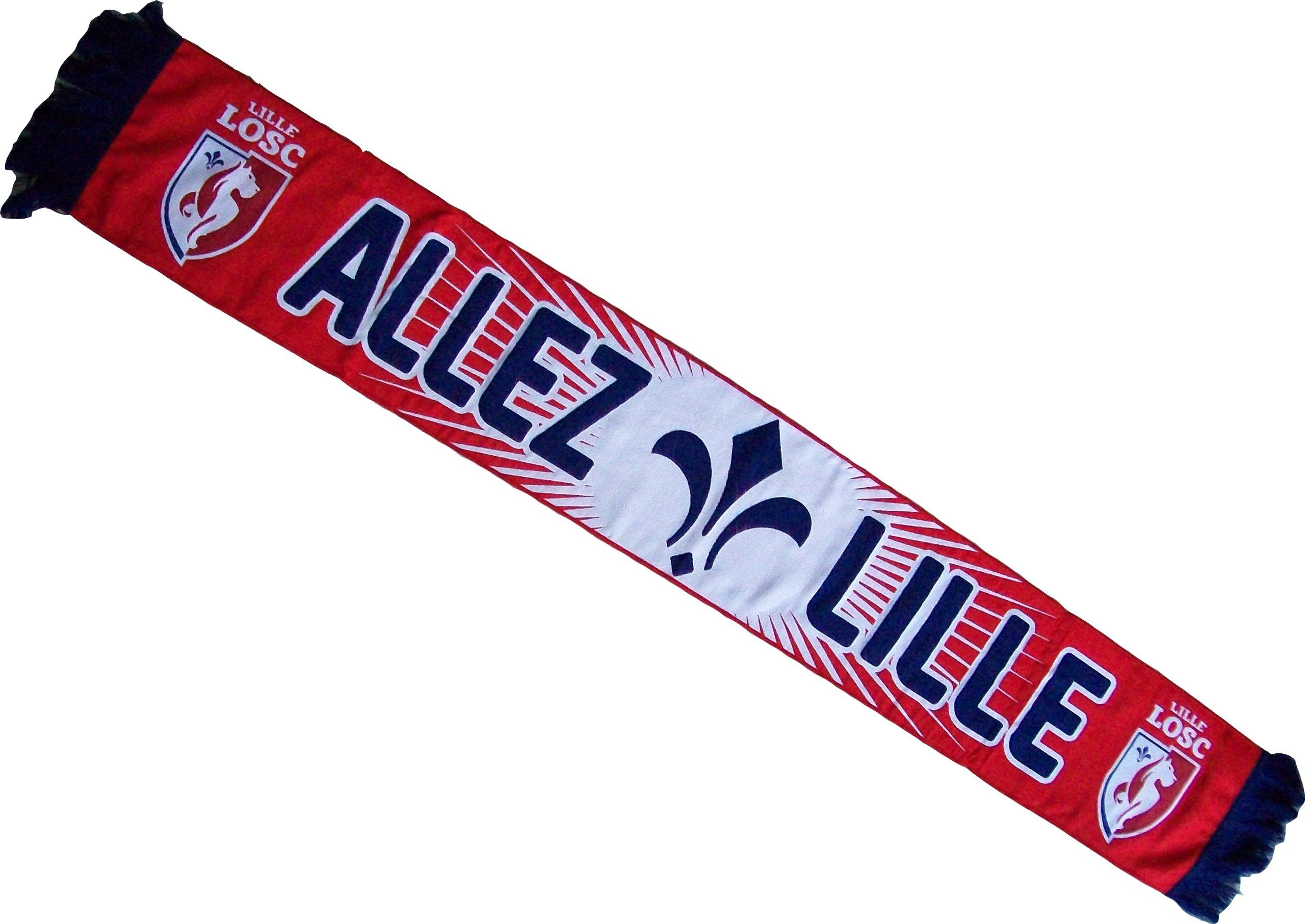 Lille Olympique Sporting Club - Sciarpa collezione ufficiale Lille Olympique Métropole LOSC, campion