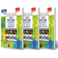 Oswaal CBSE MCQs Chapterwise For Term I & II, Class 10 (Set of 3 Books) Mathematics (Standard), Science, Social Science…