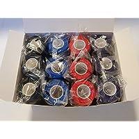 nilo, Bende adesive - 12 rotoli, 10 cm x 4,5 m, benda autoadesiva ed elastica (Multicolor)