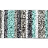 Salle de bain tapis antidérapant bain tapis microfibre eau tapis de bain douche solide (45 * 65cm,)