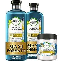 Herbal Essences Olio di Argan: Shampoo 400ml + Balsamo 360ml + Maschera 250ml, Ripara dai Danni, in Collaborazione con…