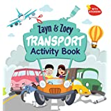 Zayn and Zoey Transport Activity Book with Stickers - Variety of fun activities for kids - Children's Early Learning Educatio