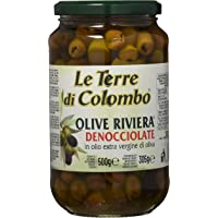 Le Terre di Colombo - Olive Riviera Denocciolate in Olio d'Oliva Extra Vergine (36%), 500 g