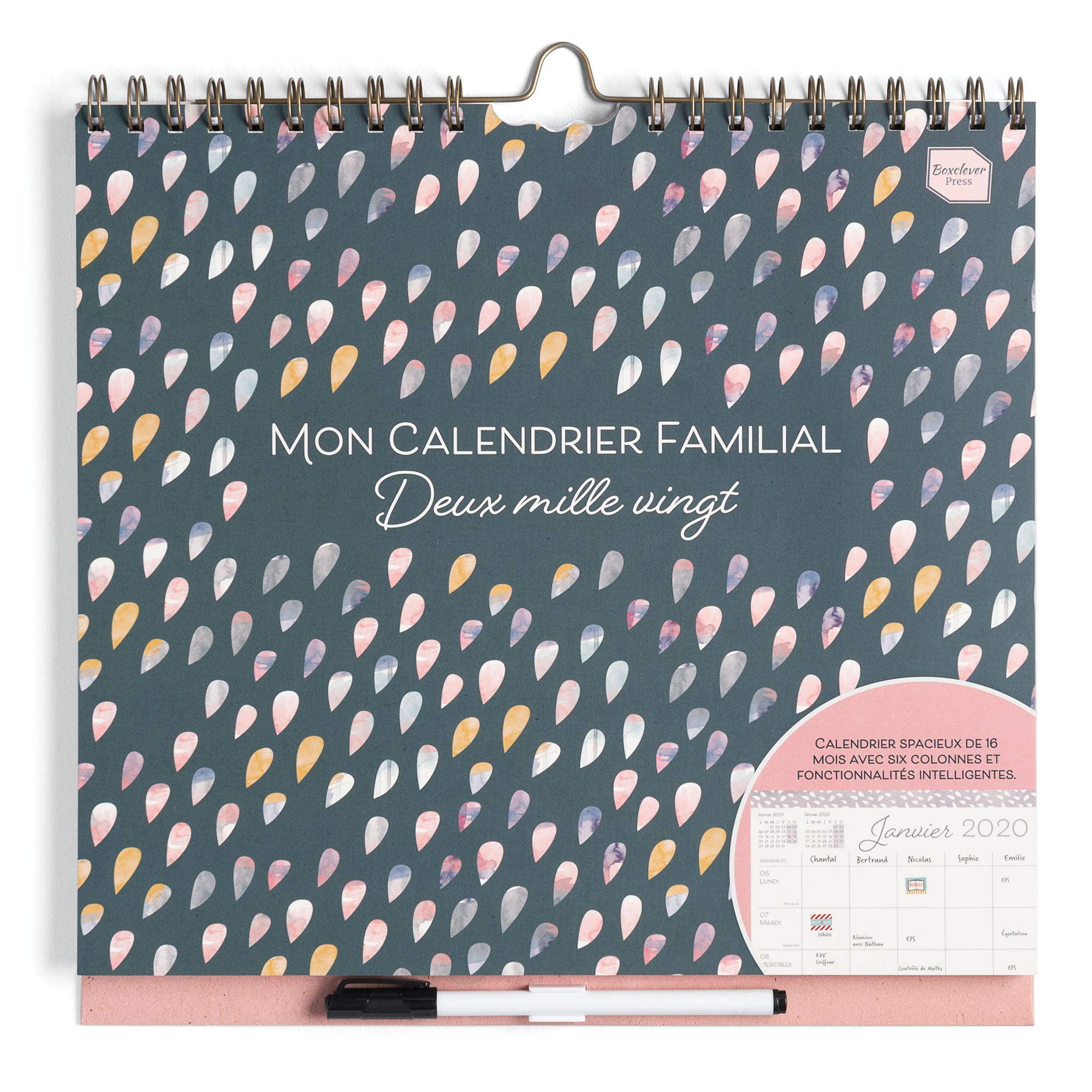Grand Calendrier Mural Pour Planning.Boxclever Press Mon Calendrier Familial 2019 2020 Calendrier 2020 Organiseur Familial 2019 2020 Planning Familial Calendrier Mural 2020 Avec 6