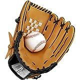 SKL Baseball Handschuhe Sport & Outdoor Baseball Glove Batting Handschuhe mit Einem Ball Softball Handschuhe für Kinder Erwachsene
