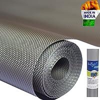 Bulfyss Multipurpose ethylene-vinyl Textured Super Strong Anti-Slip Mat Liner - (Size 45 X 500 cm , 5 Meter Roll, Grey)