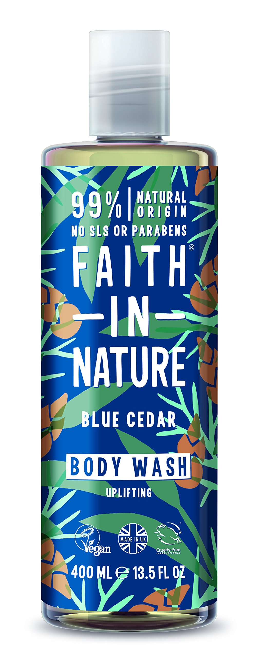 Faith In Nature,  Blue Cedar Body Wash, 400ml