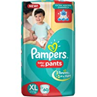 Pampers Baby Dry Diapers Pants - Extra Large (60 Count)