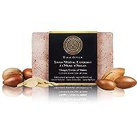 Savon Végétal Exfoliant à l'huile d'Argan|Saponifié à froid & 100% Naturel|100g|Fabrication artisanale|Tous type de peau…