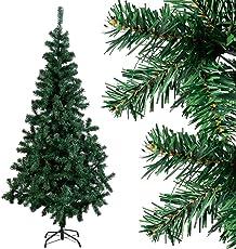 COSTWAY Weihnachtsbaum künstlicher Tannenbaum Christbaum Kunstbaum Dekobaum mit Metallständer 150cm/180cm/210cm/240cm grün