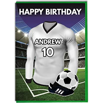 Personalised Football Themed Birthday Card For Dad Husband Son