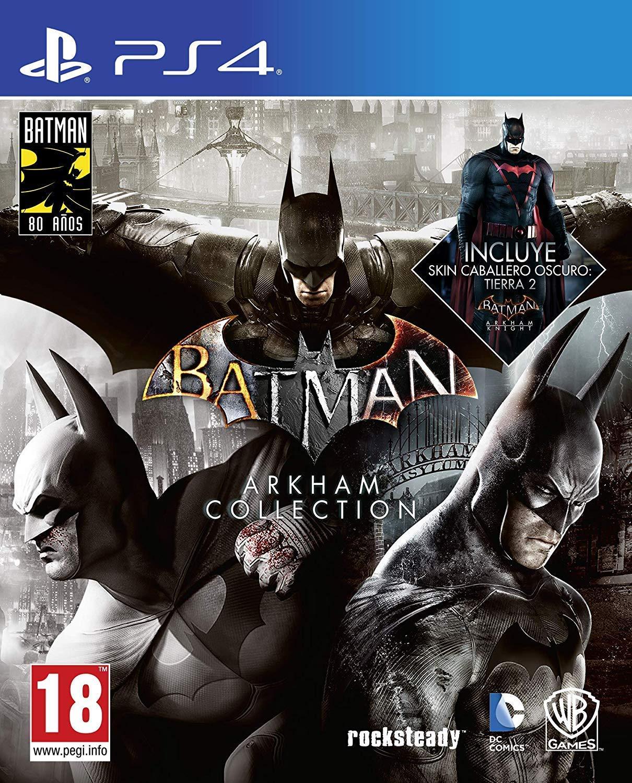Batman: Arkham Collection – Edición Exclusiva Amazon (Incluye steelbook y skin de caballero oscuro)