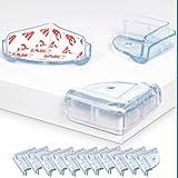 Hoekbeschermers voor Tafels, L-vormige Randbeschermers, 12 Stuks, Kristalhelder, Beschermer voor Meubelhoeken, met speciale N