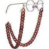 EUEAVAN Retenedor de Gafas de acrílico Cadena Gafas de Sol Correa Cadena Gafas de Lectura Collares Cadena para Mujeres y Homb