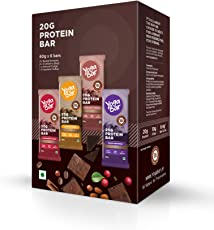 Yogabar Protein Variety Box - 6 x 60 g (Box of 6 Bars)