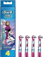 Oral-B Stages Power Kids Aufsteckbürsten, im die Eiskönigin - völlig unverforen Design, 4 Stück