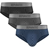 Separatec Men's 2-3 Pack Smooth Ultra Bamboo Rayon or Cotton with Separated Pouches Underwear Dual Pouch Soft Fiber Stylish m