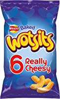 Walkers Wotsits Really Cheesy Multipack Snacks, 6 x 16.5 g