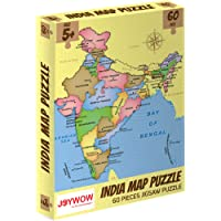 JOYWOW India Map Jigsaw Puzzles Game for Kids Age 5 6 7 8 Boys and Girls, 60 Pieces   Size 40X25 cm