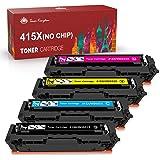 Toner Kingdom Cartucho de Tóner Compatible Repuesto para HP415X(negro-7500;color-6000 páginas) para HP Color Laserjet Pro M45