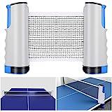 Tencoz Filet de Ping Pong, Filet de Tennis de Table Rétractable Ping Pang Net Table Tennis Net Réglable Portable pour Intérie