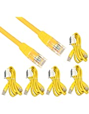 Storite RJ45 Cat-5e Network Ethernet Patch Cable (1.5 m) , Pack of 5