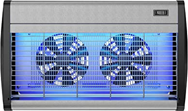 Hoont Robust Electric Indoor Bug Zapper with UV Light and Dual Fans - Covers 4,000 Sq. Ft/Fly Killer, Insect Killer, Mosquito Killer - for Residential, Commercial and Industrial Use [Upgraded]