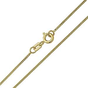 Catenina a maglia groumette in oro giallo 333 8 carati, larghezza 1,10 mm, unisex
