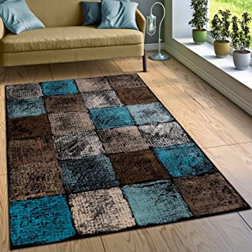 amazon.de: designer teppich wohnzimmer ausgefallene ... - Teppich Wohnzimmer Braun