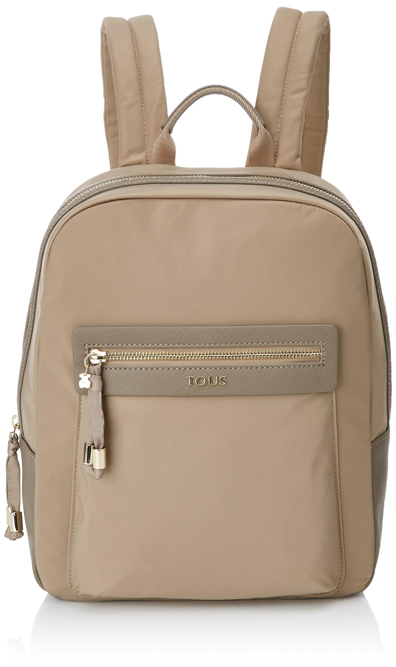 81ZYjpFMDIL - Tous 695810088, Bolso mochila para Mujer, Beige (Topo), 26x33x9.5 cm (W x H x L)