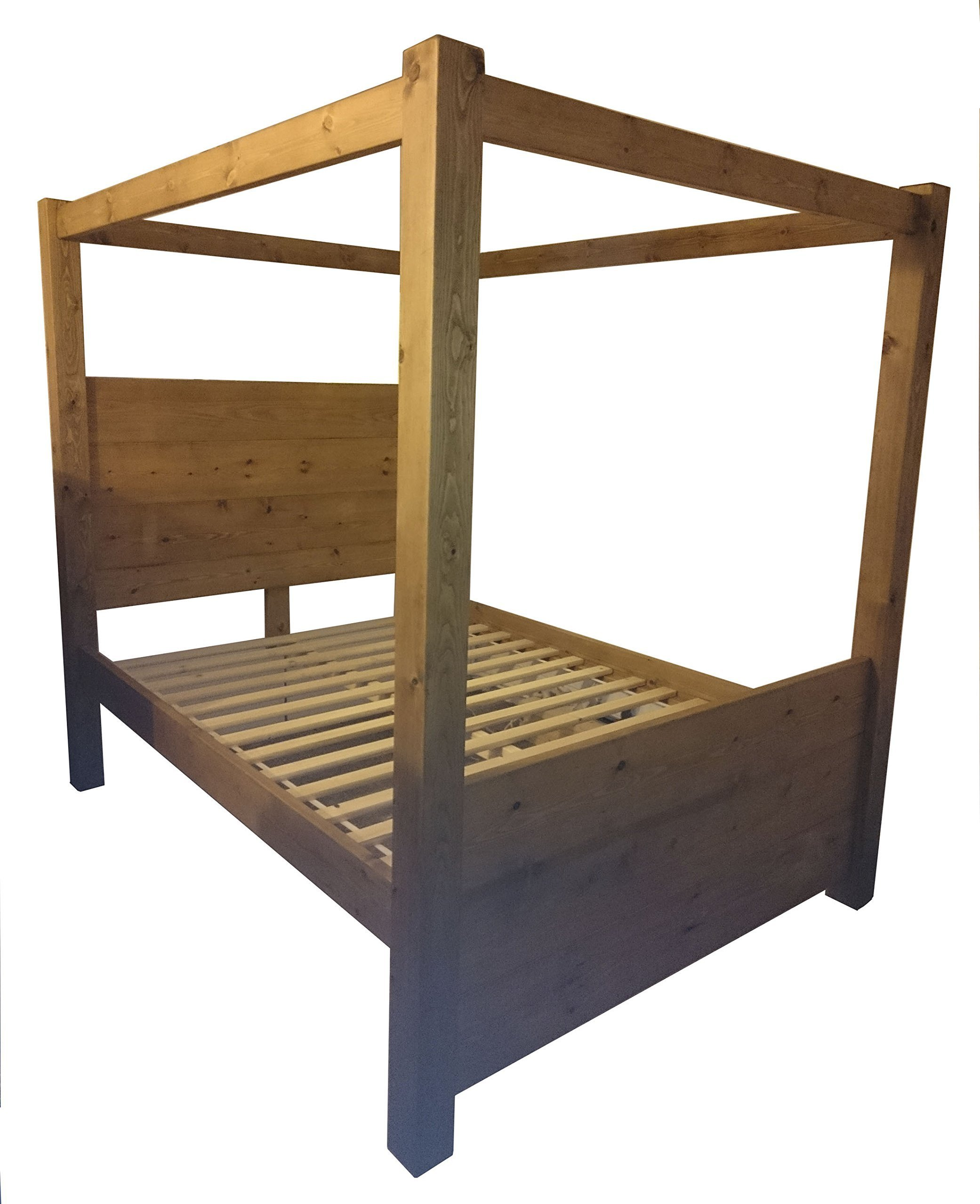 0f71cc5ee0ce HANDMADE SOLID REDWOOD CHUNKY WOOD FULL SIZE CANOPY FOUR POSTER SINGLE  DOUBLE SUPER KING SIZE BED
