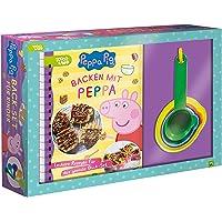 Backen mit Peppa. Peppa Pig: Back-Set für Kinder mit Rezeptbuch und 5 Messbechern. Für Kinder ab 3 Jahren