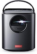 Nebula Mars II Beamer von Anker, Tragbarer Projektor mit 720p DLP Bildqualität, Duale 10W Lautsprecher, Android 7.1 OS, Sekundenschneller Autofokus, 30 - 150 Zoll Display, 3 Stunden Akkulaufzeit, Kabellose Projektion & Erweiterte Konnektivität