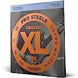 D'Addario EPS160 - Juego de cuerdas para bajo eléctrico de acero.050 .070 .085 .105, transparente