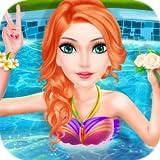Fête à la piscine pour filles : habiller et concours de mode - jeu pour les enfants et les petites filles ! GRATUIT...