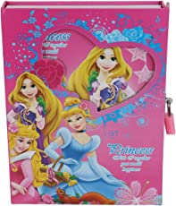 Asera Princess Lock Diary for Girls Gifts Options - Princess Theme Gifts (Small Size 16.5*13*3 cm)