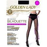 GOLDEN LADY My Secret Silhouette 30 3P Collant, 30 DEN, Nero (Nero 099A), Small (Taglia produttore:2 – S) (Pacco da 3) Donna