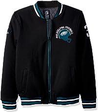 NFL Men's Full Zip Fleece Embroidered Vintage Logo Varsity Jacket