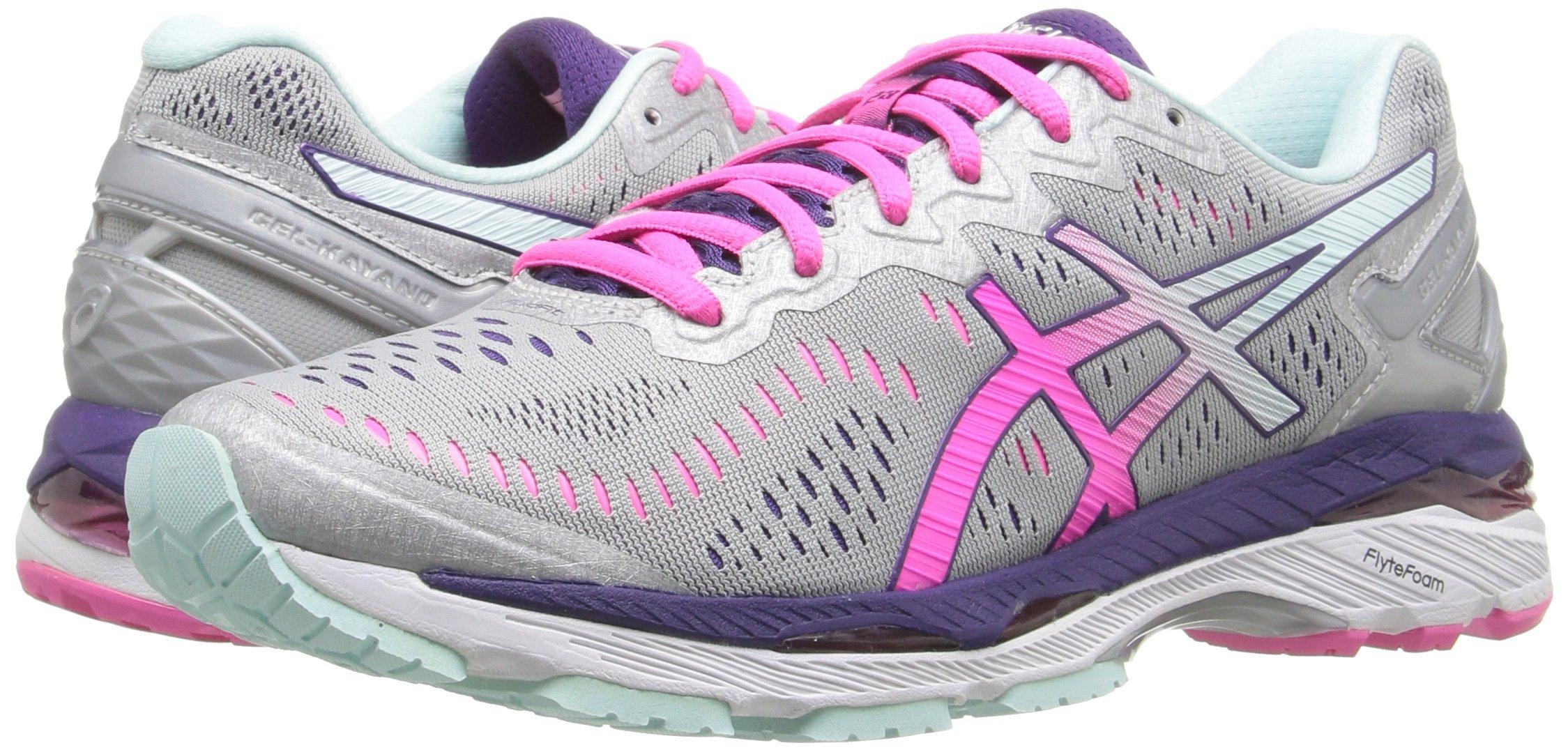 81ZavS8%2BRKL - ASICS Women's Gel-Kayano 23 Running Shoe, Silver/Pink Glow/Parachute Purple, 5.5 UK