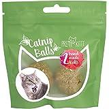 PRETTY KITTY 2X Katzenminze Ball handgerollt - Premium Catnip Bälle bestehend aus 100% natürlicher Katzenminze - aufregendes Spielzeug für Katzen - 2 Stück