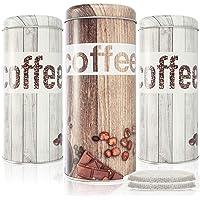 com-four® 3X Boîtes pour Capsules de café- Boîte à café pour dosettes de café - Porte Capsules - Boîte décorative en…