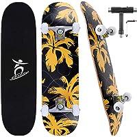 Colmanda Skateboard 79 x 20 cm 31 pollici, Skateboard Completo 7 Strati di Acero Canadese Ruote ABEC-7, Skateboard per…