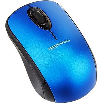 AmazonBasics - Ratón inalámbrico con receptor nano - Azul